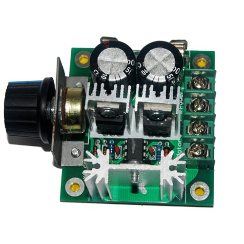 Pulse Width Modulation Pwm Dc Motor Speed Control Switch Governor 12V-40V 10A Controller W/ Knob--High Efficiency, High Torque, Low Heat Generating With Reverse Polarity Protection, High Current Protection