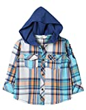 Beebay Blue Check Hooded Shirt (C4915200920823_Blue Check_0-3M)