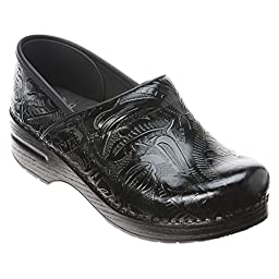 Dansko Women\'s Professional Tooled Clog,Black,42 EU / 11.5-12 B(M) US