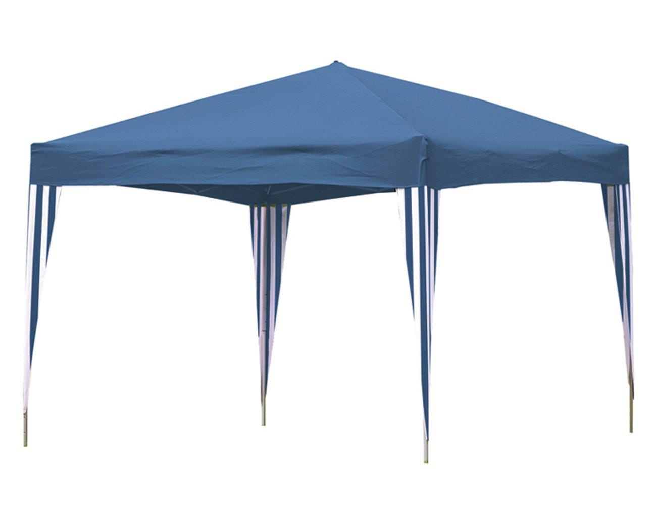 Siena Garden 506170 Alu-Faltpavillon, blau/weiß , L 300 x B 300 cm