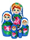 Anna Nesting Dolls 5-pc 7H in Blue