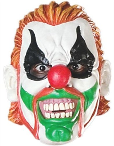 New Adult's Rocky Evil Clown Vinyl Costume Accessory Mask