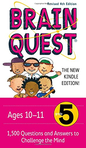 Brain Quest Grade 5, revised 4th edition: 1,500 Questions and Answers to Challenge the Mind (Brain Quest Grade 6 Cards compare prices)