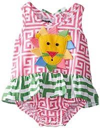 Mud Pie Baby Girls\' Lion Swimsuit, Red, 12 18 Months