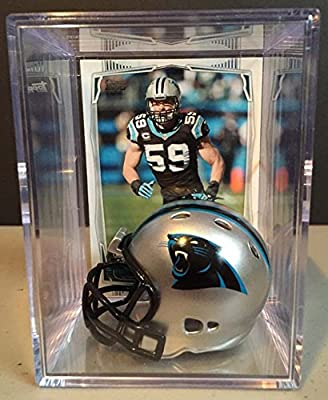 Carolina Panthers NFL Helmet Shadowbox w/ Luke Kuechly card