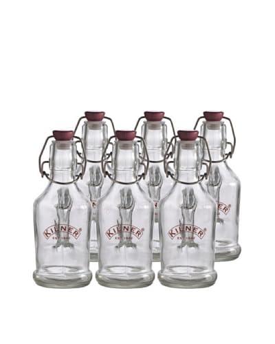 Kilner Set of 6 Clip Top 200ml/7 fl oz. Handled Bottles