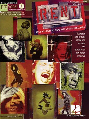 Rent Vol. 3 Bk/CD Pro Vocal Series Female/Male Singers (Hal Leonard Pro Vocal (Numbered))