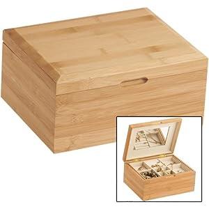 Bamboo Wooden Jewellery Box Gloria