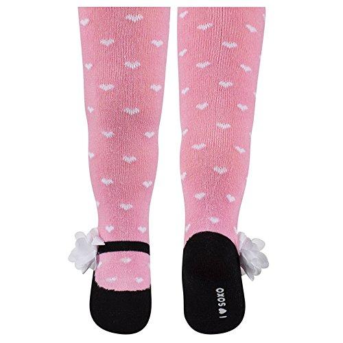 Sevira Kids-Collant, motivo: Ballerine, in diverse misure e colori rosa Rosa 80 - 86 cm 12 - 18 mesi