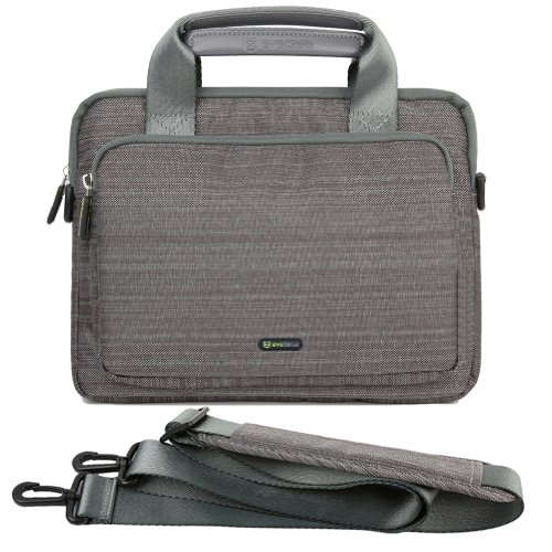 Evecase 9.7 ~ 10.1 Inch Tablet & Ipad Suit Fabric Multi-Functional Neoprene Messenger Case Tote Bag With Handle And Carrying Strap (Gray)