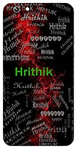 Hrithik (Hindu Boy) Name & Sign Printed All over customize & Personalized!! Protective back cover for your Smart Phone : Moto G-4-PLAY