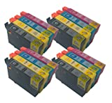 T1285 x4 Compatible Ink Cartridges to replace Epson Stylus S22 Latest Version Double Capacity Inks - T1281 T1282 T1283 T1284 (Replaces :T 1281 T 1282 T 1283 T 1284) - Black / Cyan / Magenta / Yellow / - Multipack ***By TriINKS***