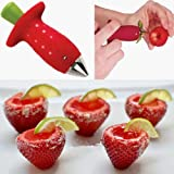 Misswonder Strawberry Berry Stem Leaves Huller Gem Remover Removal Fruit Corer Kitchen Tool