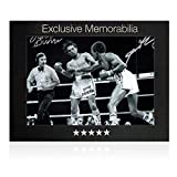 Sugar Ray Leonard And Roberto Duran Signed Boxing Photo: Brawl In Montreal. In Gift Box