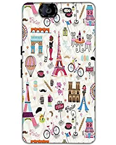 Webplaza Micromax Canvas Knight A350 Back Cover Designer Hard Case Printed Cover