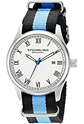 Stuhrling Original Unisex 522.01 Gen X Liberty Stainless Steel Watch with Canvas Band
