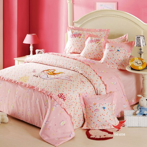 Best DIAIDI Cute Princess Bedding Sets Fish Mermaid Bedding Set Sea Maid Floral Bedding Set Full Twin