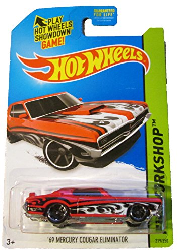 2014 Hot Wheels Hw Workshop '69 Mercury Cougar Eliminator - Red [Ships in a Box!] - 1