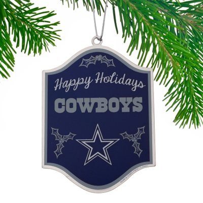 Dallas Cowboys Happy Holidays Sign Ornament