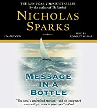 Message in a Bottle (       UNABRIDGED) by Nicholas Sparks Narrated by Kimberly Schraf