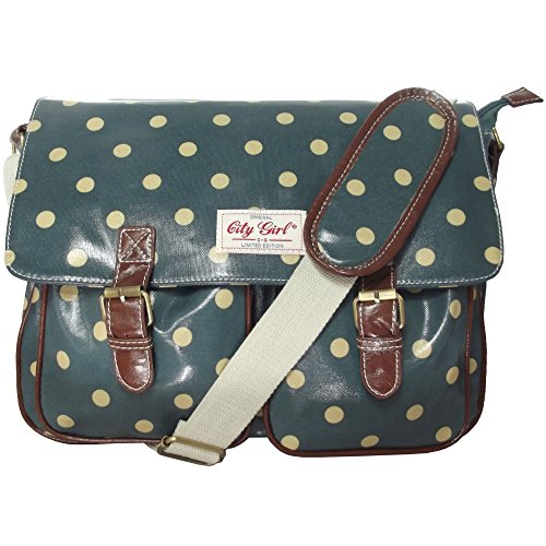 City Girl Anna Smith Polka Dot, Daisy Flower (Floral) Satchel   Ladies Girls Spot Print Shoulder Bag   School...