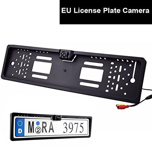 CoCar-Auto-Farb-Rckfahrkamera-EU-Kennzeichen-Nummernschild-Halter-Einparkhilfe-Kamera-LED-Nachtsicht-Wasserdicht-Autoparksysteme