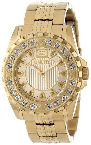 Marc Ecko Mujer, 44mm tono de oro pulsera de acero caja de acero cuarzo tono dorado esfera analógica reloj E13510G1