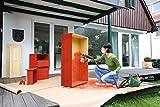 Bosch-DIY-Farbsprhsystem-PFS-3000-2-Farbbehlter-1000-ml-Dse-fr-Lacke-und-Lasuren-grau-Wandfarbe-wei-Schultergurt-Farbfilter-Reinigungsbrste-Karton-650-W-300-mlmin-2mmin