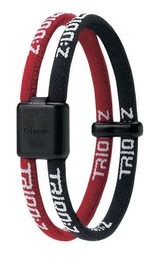 Trion Z Wrist Bracelet (Medium, Black/Red)