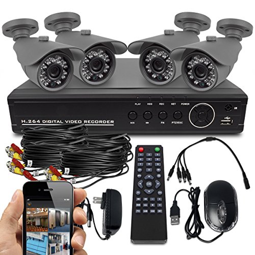 Best Deals! Best Vision Systems SK-DVR-DIY 8-Channel D1 DVR Security System with 4 800TVL IR Outdoor...