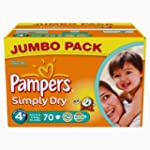 Pampers Simply Dry Couches Maxi + 9-2...