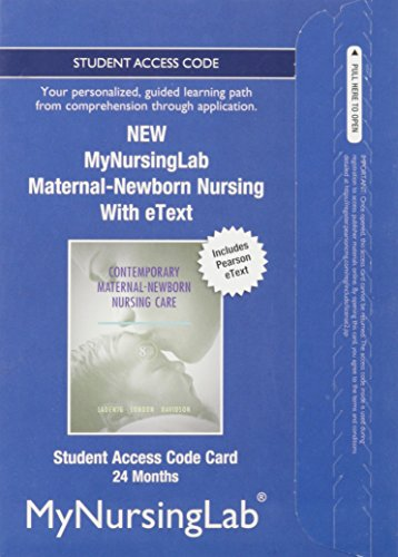 NEW MyNursingLab with Pearson eText -- Access Card-- for Contemporary Maternal-Newborn Nursing (24-month access)