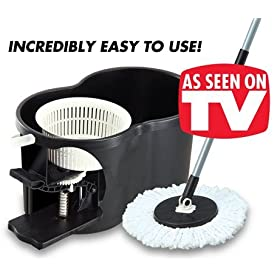 Spin N Mop 360 Degree Rotating Mop and Bucket with TWO mop heads!