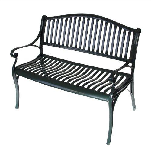 gartenbank napoli aus wetterfestem aluguss gr n g nstig. Black Bedroom Furniture Sets. Home Design Ideas