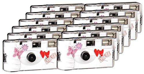 TopShot red love hearts pour 27 photos avec flash (lot de 12)