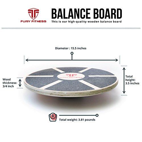 Balance Board Exercises Benefits: Fury Fitness Wooden Balance Board