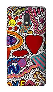 SWAG my CASE PRINTED BACK COVER FOR MOTOROLA MOTO E3 Multicolor