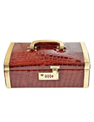 Golden Collections GC4340 Brown And Golden Wood, Rexene Jewellery Box