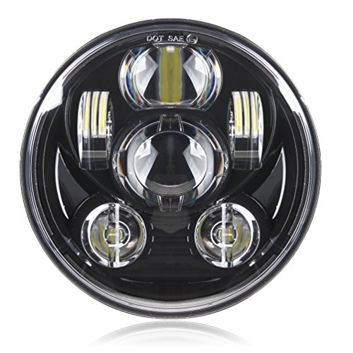 5-3/4 5.75 Daymaker LED Headlight for Harley Davidson Motorcycle Headlamp Projector Driving Light (Black Harley Davidson Headlight compare prices)