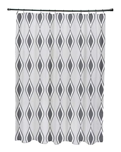 e by design Ogee Shower Curtain, Grey