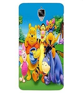 ColourCraft Cartoon Family Design Back Case Cover for OnePlus Three