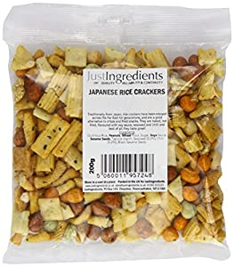 JustIngredients Japanese Rice Crackers 200g (Pack of 4)