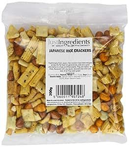 JustIngredients Essential Japanese Rice Crackers 200g (Pack of 4)