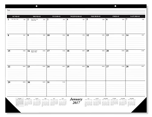 3 DAYS ONLY! BUY ONE GET ONE F R E E ! ! 12 Month Deskpad / Wall Calender January December 2017; Great Durable Quality Beautiful Ruled For your Memos; 17 x 22 Inches