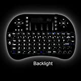 Rii i8+ 2.4 GHz Wireless Keyboard with Touchpad Mouse - Black