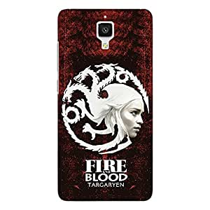 Jugaaduu Game Of Thrones GOT House Targaryen Back Cover Case For Xiaomi Mi4