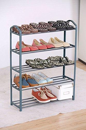 Metall-Schuhregal-mit-5-Etagen-fr-bis-zu-15-Paar-Schuhe-Stabile-Schuhablage