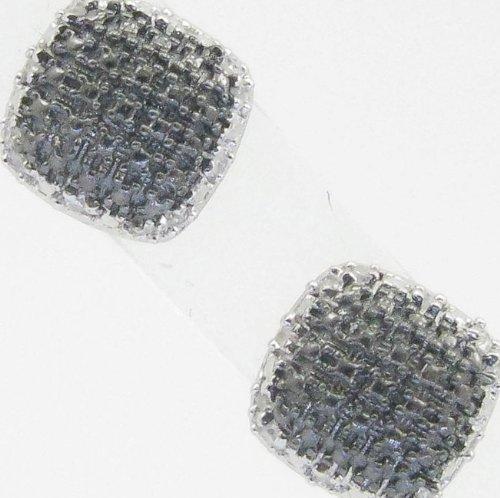 Mens 925 Sterling Silver earrings fancy stud hoops huggie ball fashion dangle black small pave earrings