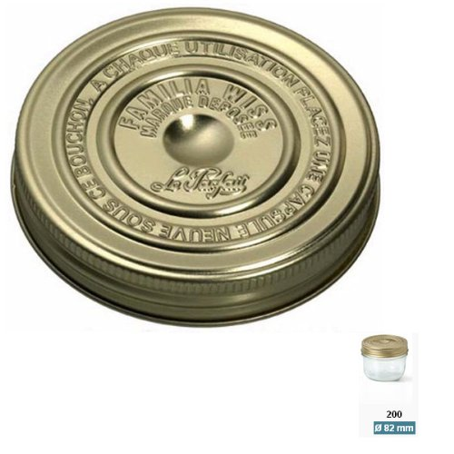 Le parfait - 610087 - Lot de 6 couvercles à vis 8.2cm Familia Wiss