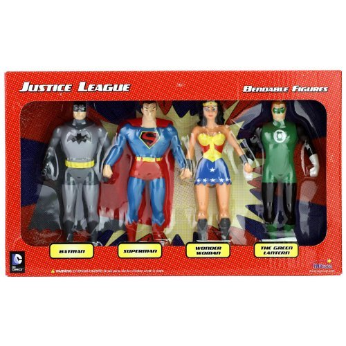 Super Hero Set Justice League Boxed 5 inch Hero Series Action Figures Toys, 4 Pack